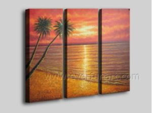 100% Hand Painted Seaside Scenery Oil Painting on Canvas Art (SE-205) pictures & photos
