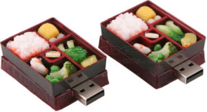 Purple Aubergine-Shaped USB Flash Drive Security with Toshiba/Samsung Chip pictures & photos