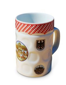 Ceramic Embossed Beer Mug with Decal Printing (WSY610M)