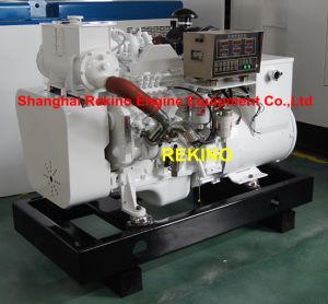 30kw 50Hz Cummins Marine Diesel Genset Generator (4BTA3.9-GM47+MP-H-30-4)