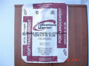 China Printed PP Woven Valve Bag for Cement