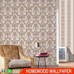 Fashion Deep Embossed Vinyl Wall Paper with PVC Waterproof Py503-1 pictures & photos