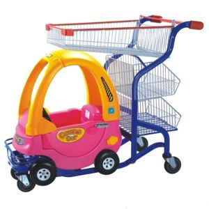 Hot Product! ! Supermaket Powder Coating Kids Shopping Trolley (YD-M27) pictures & photos