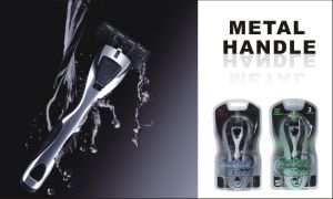 Triple Blade Metal Handle System Razor pictures & photos