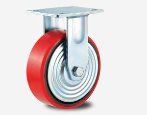H17 Heavy Duty Type Double Ball Bearing PU on Aluminum Core Wheel Caster pictures & photos