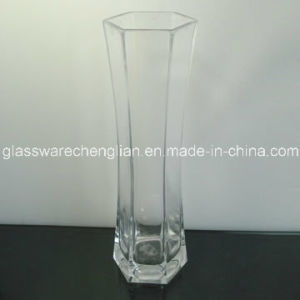 Hand Made Clear Glass Vases (V-011) pictures & photos