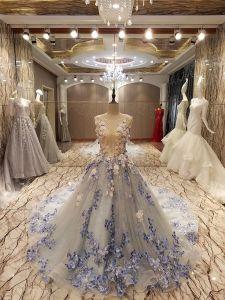 Lace Wedding Dress with Sashes Elegant Mermaid Wedding Dresses Bridal Dresse (YC051)