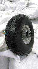 Flat Free Hand Trolley Wheels From Qingdao (3.50-4) pictures & photos