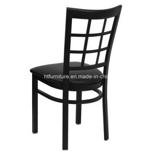 Window Back Metal Restuarant Chair, Vinyl Seat pictures & photos