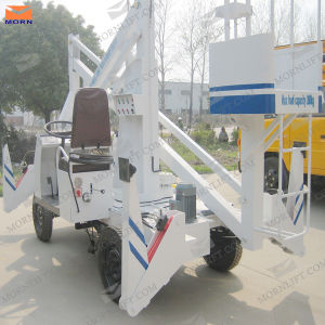 12m Self-Propelled Hydraulic Lift Platform Truck pictures & photos