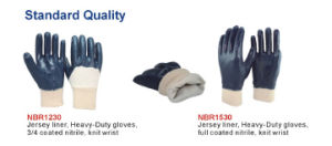 3/4 Nitrile Coated Waterproof Safety Gloves pictures & photos