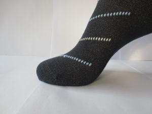 Silver Cotton Socks pictures & photos