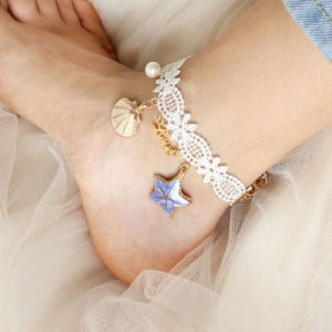 Summer Beach Shell Lace Anklets with Love Letters pictures & photos