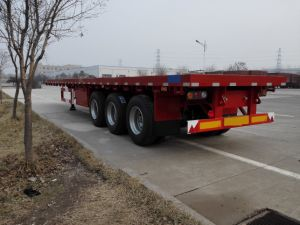 2axle/3 Axle Flatbed Semitrailer/Container Loading Semitrailer pictures & photos