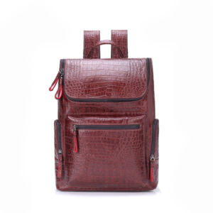 2017 Luxury Crocdile Grain Leather Designer Bags Laptop Backpack pictures & photos