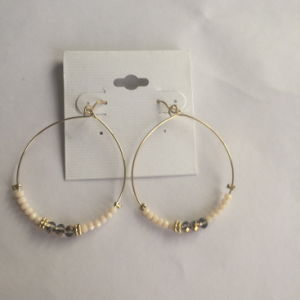 Large Circled Earrings with Black Threads Fashion Jewelry pictures & photos