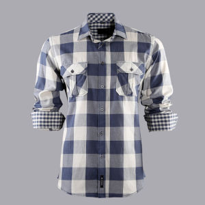 100% Cotton Men′s Check Casual Men′s Shirts