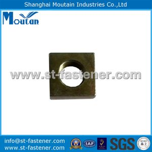 Yellow Zinc Plated Square Nuts