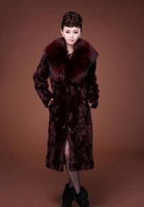 Newest Morden Women Winter Luxury Slim Long Faux Fur Coat Solid Pattern Fur Collar Full Sleeves Plus Size Warm Outerwear pictures & photos