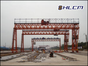 Precast Yard Gantry Crane for PC Girder (HLCM-3) pictures & photos
