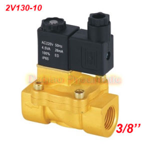 3/8′′ Brass Pilot Operated Solenoid Valves 2/2 Way 13mm Orifice 2V130-10