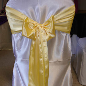"Satin Chair Sash for Banquet Decoration 6""X108"" pictures & photos"