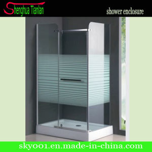 Rectangle Tempered Fiberglass Glass Bathroom Hinge Shower Cubicle (TL-509) pictures & photos
