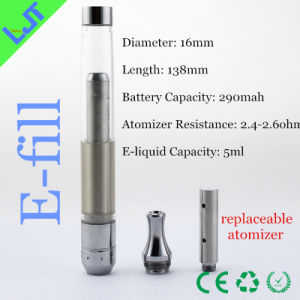 Big Capacity Battery One-Piece Rechargeable E Cigarette with Rebuildable Atomizer for E-Liquid (E-Fill)