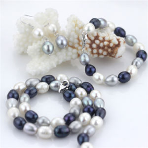 Snh Freshwater Fashion Pearl Necklaces Set for Women 2016 pictures & photos