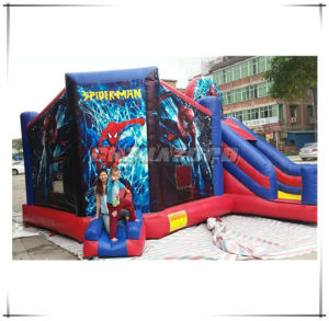 Super Hero Spider Man Inflatable Combo Bouncy Castle Factory Price