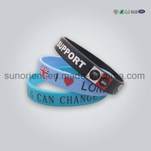 Custom Logo Printed Bulk Silicone Wristband pictures & photos