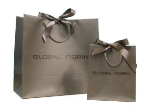 Paper Shopping Bags with PP Ribbon Handle for Packaging pictures & photos