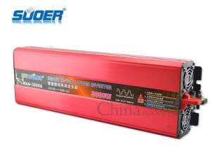 Suoer 3000W Frequency Inverter DC 12V to AC 220V (HAA-3000A) pictures & photos