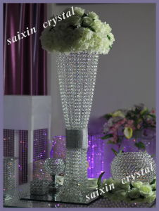 Crystal Centerpieces Flower Stand for Wedding Supplies