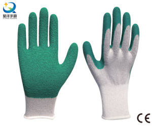 10g Cotton Shell Latex Palm Coated Work Glove pictures & photos