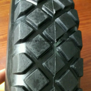 16X4.00-8 Square Tread Flat Free Wheelbarrow Tire with Steel Rim pictures & photos