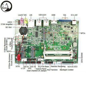 SD Card Slot Fanless Industrial Motherboard (FM3-d2550) pictures & photos