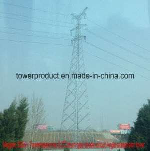 500kv Transmission Line Sjt2 Drum Type Double Circuit Angle Suspension Tower pictures & photos