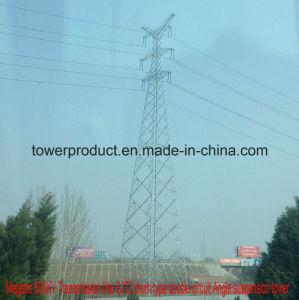 Megatro 500kv Sjt2 Drum Type Double Circuit Angle Suspension Transmission Structure pictures & photos