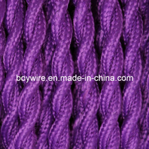 Purple Fabric Wire 2 Core Braided Electrical Twisted Wire pictures & photos