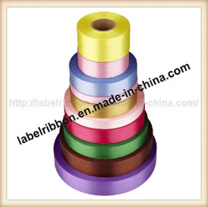 Single Side Woven Edge Polyester Satin Ribbon (SW500) pictures & photos