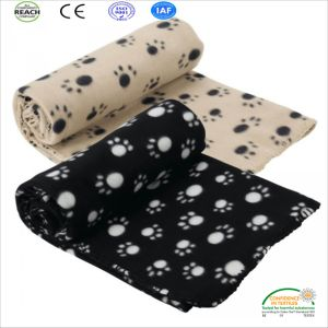 100% Polyester Super Soft Warming Footprint Printed Polar Fleece Pet Blanket pictures & photos