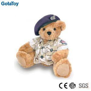 Custom Stuffed Toy Plush Army Teddy Bear in Uniform Soft Toy pictures & photos