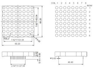 2.3 Inch 8X8 Dual Color LED DOT Matrix pictures & photos
