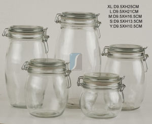 Hot Selling China Supplierhermetic Food Glass Jar Wholesale in Storage Bottles and Jars pictures & photos