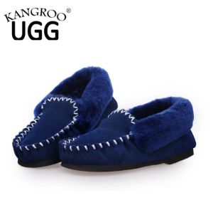 Fashion Sheepskin Women Indoor Shoes in Blue pictures & photos