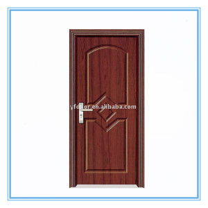 New Design and Low Price PVC Wooden Doors (YF-M06) pictures & photos