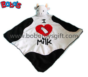 "15""Super Soft Plush Cow Head Style Doudou Stuffed Animal Baby Comforter Blanket pictures & photos"