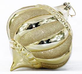 Christmas Ball for Gold Pumkin Design