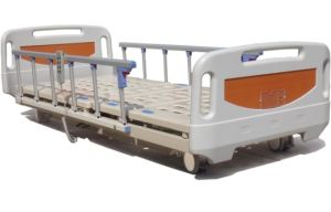 Super Low Electric Hospital ICU Bed with New ABS Head and Foot Board (XH-12) pictures & photos